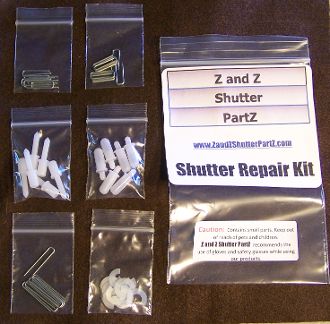 Plantation shutter parts repair kit - Plantation shutters kits ...